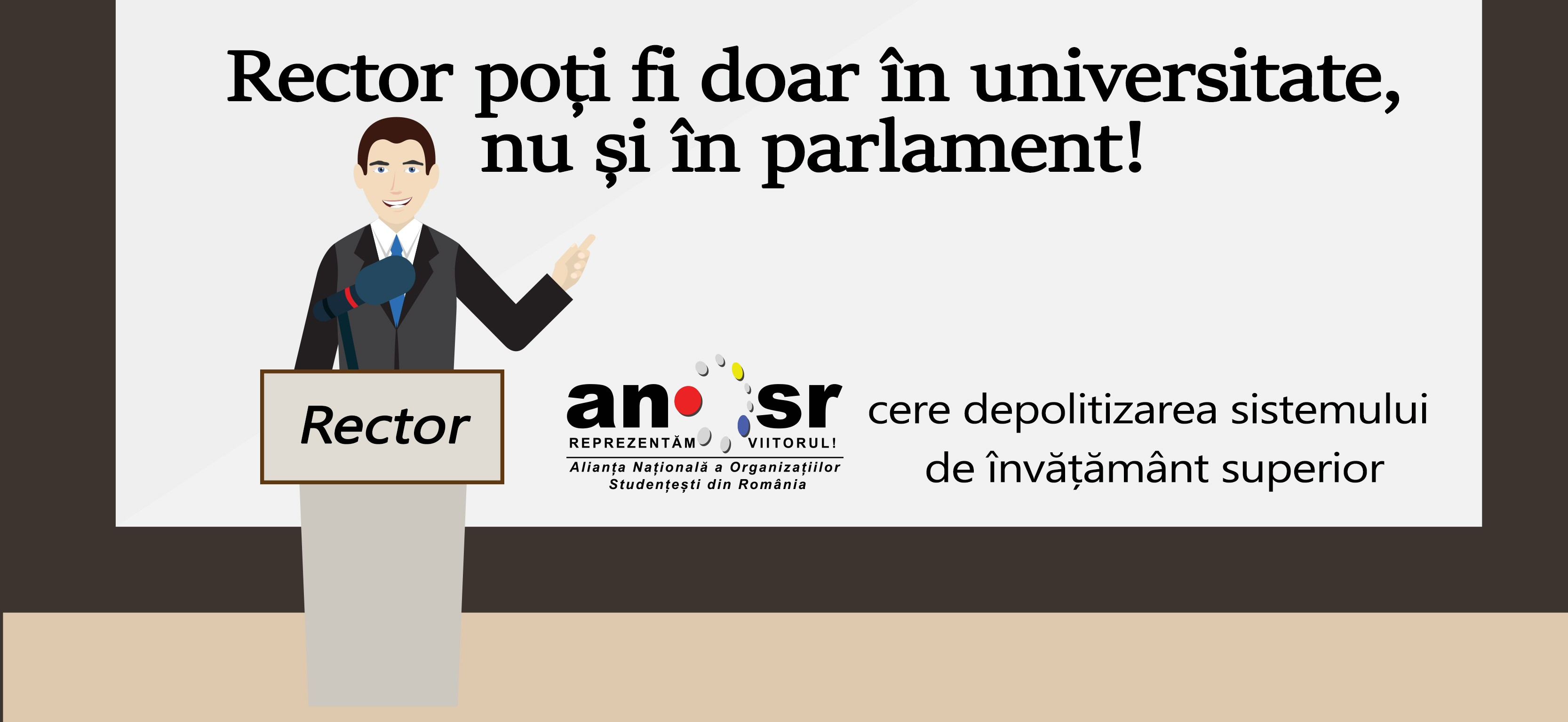 Studenții nu vor parlamentari-rectori