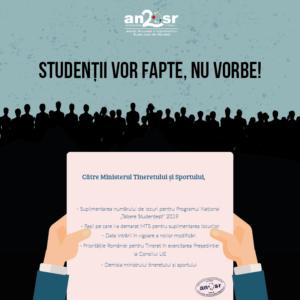 studenții vor fapte, nu vorbe